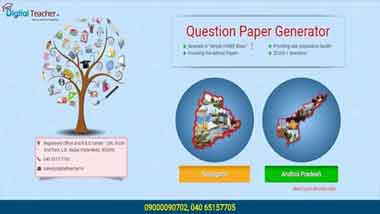 Digital Teacher Question paper generator tool