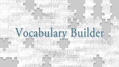 Digital teacher english vocabulary builder