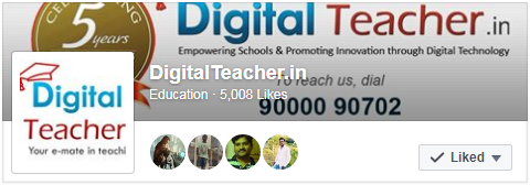 Digital teacher smart class 5000 facebook likes