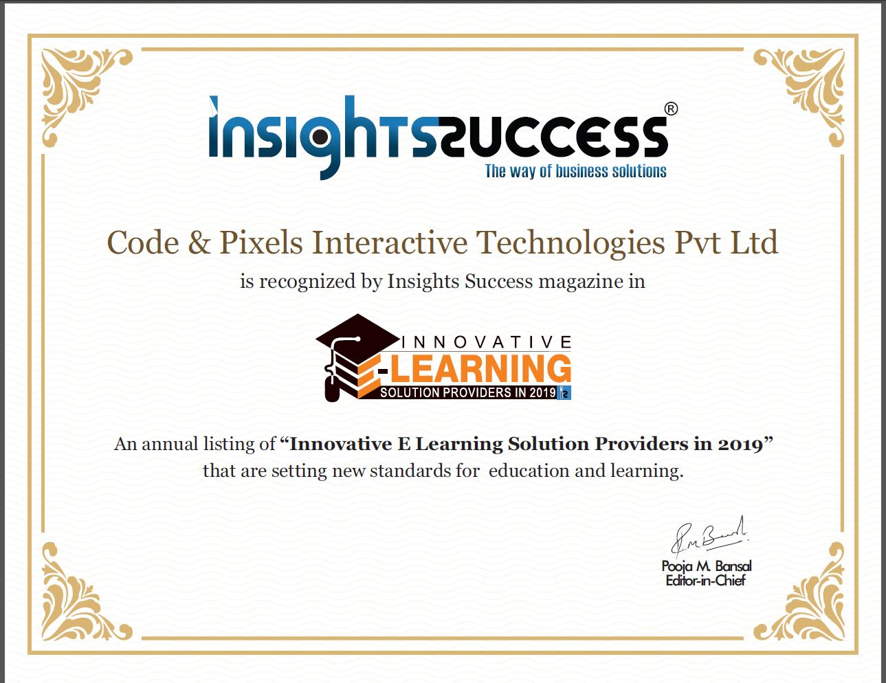 Innovative E Learning Solution Providers in 2019 - Insights Success Magazine