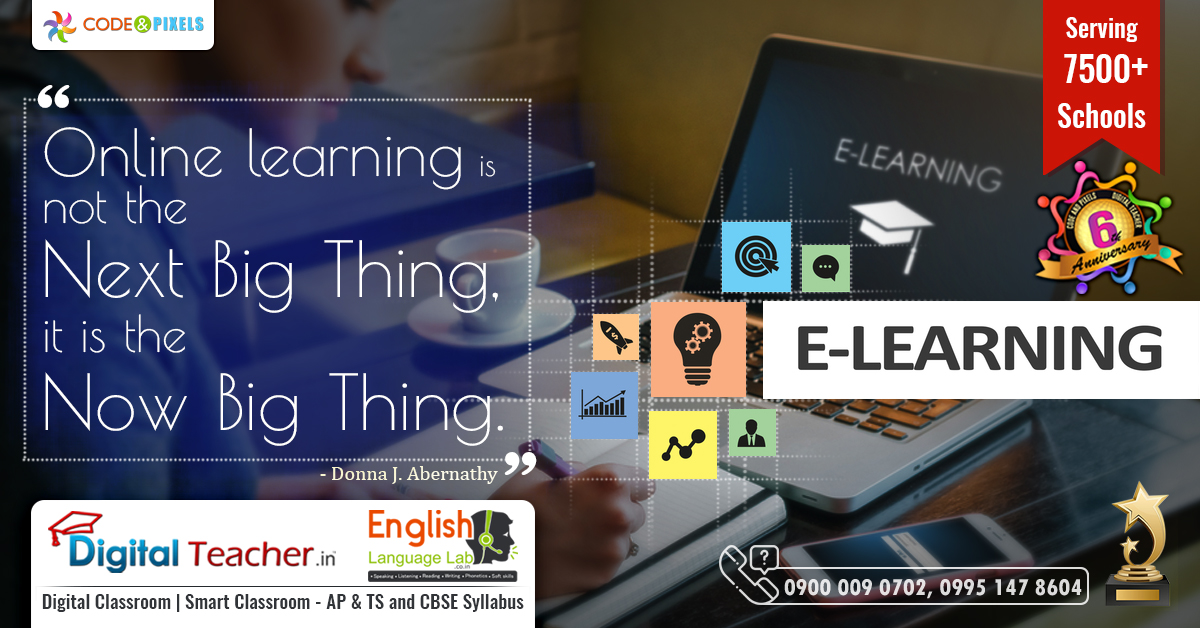 eLearning is learning utilizing electronic technologies to access educational curriculum outside of a traditional classroom