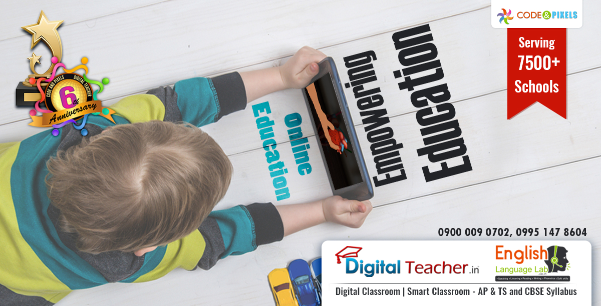 Digital teacher online system featured with smart classroom content/digital content in order to educate and empower students with knowledge