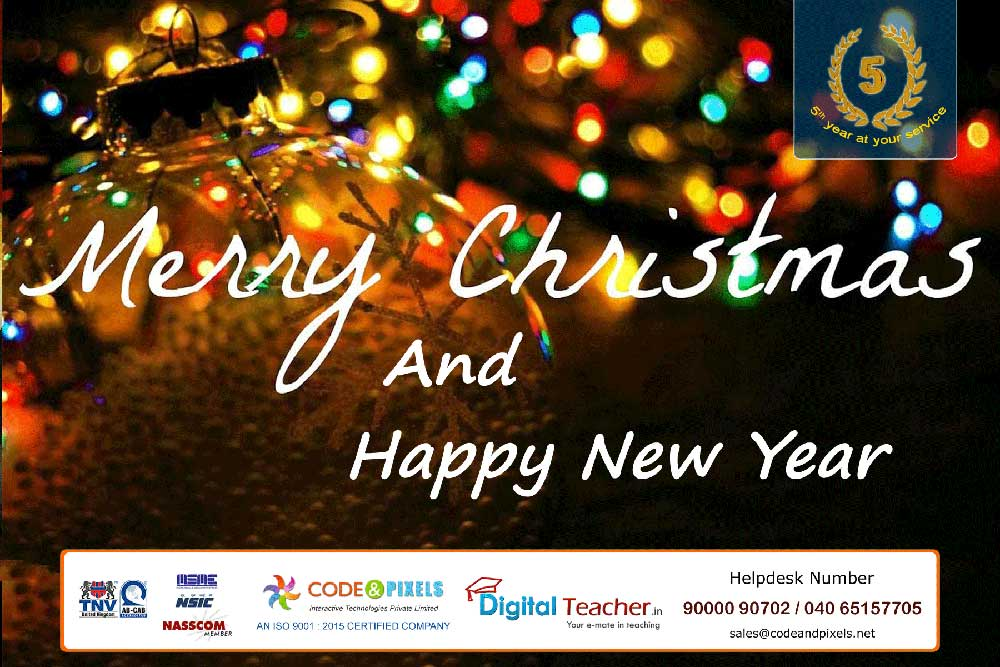 Wish you a Happy Merry Christmas & New Year -Digital Teacher