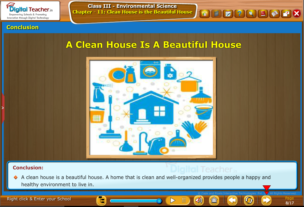 Clean house is the beautiful house-Conclusion