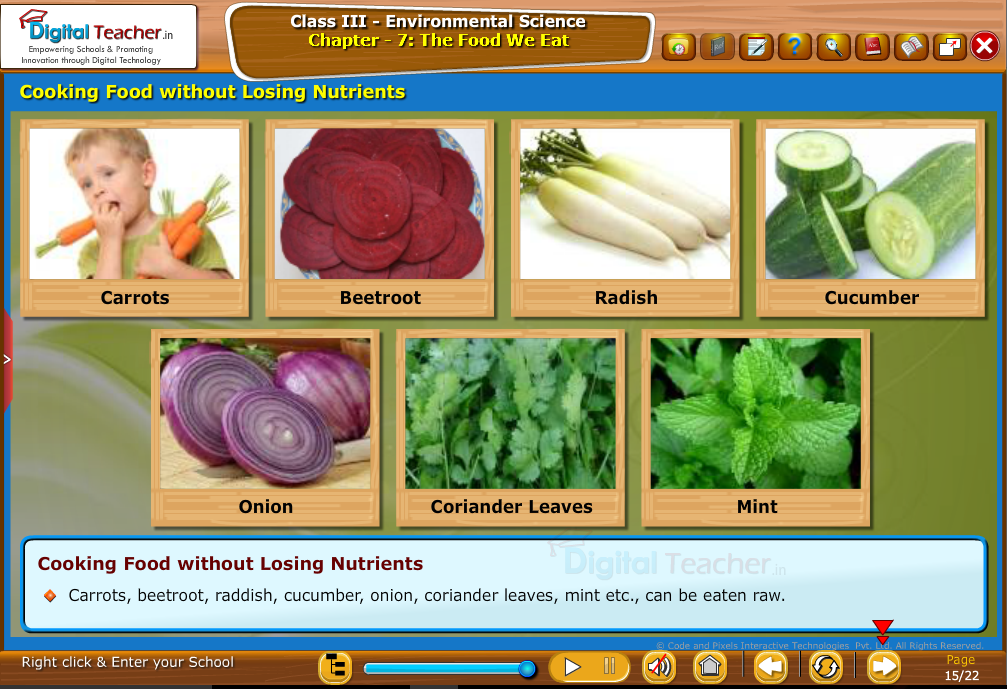 Cooking food without losing nutrients