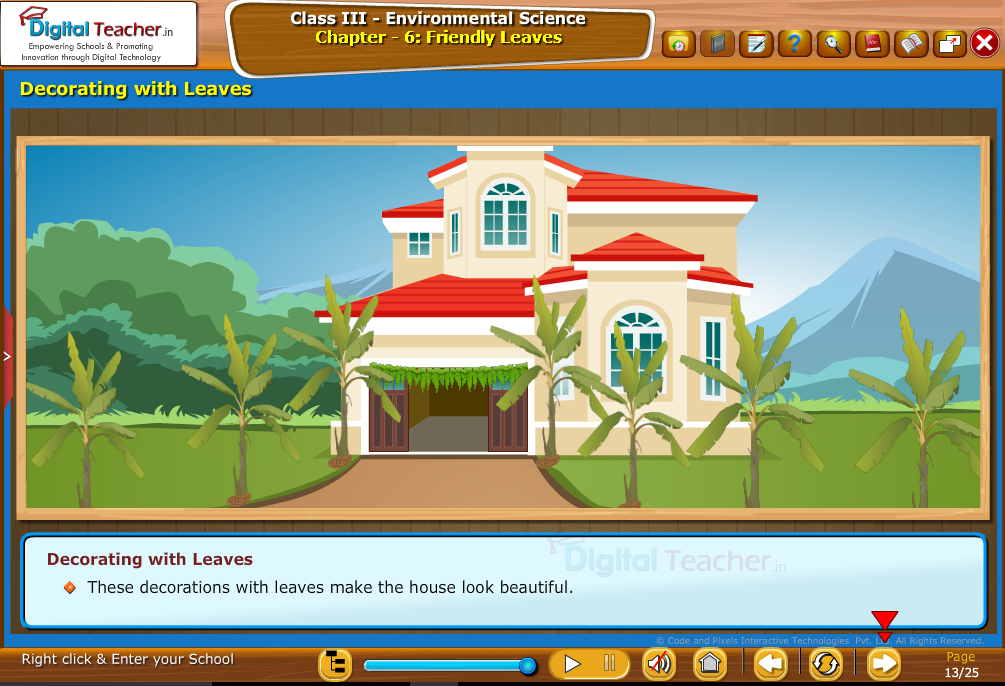 Decorating with leaves