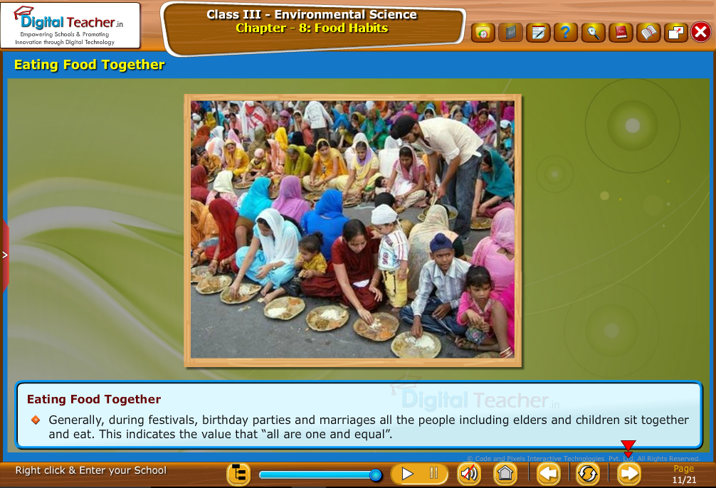 Eating food together