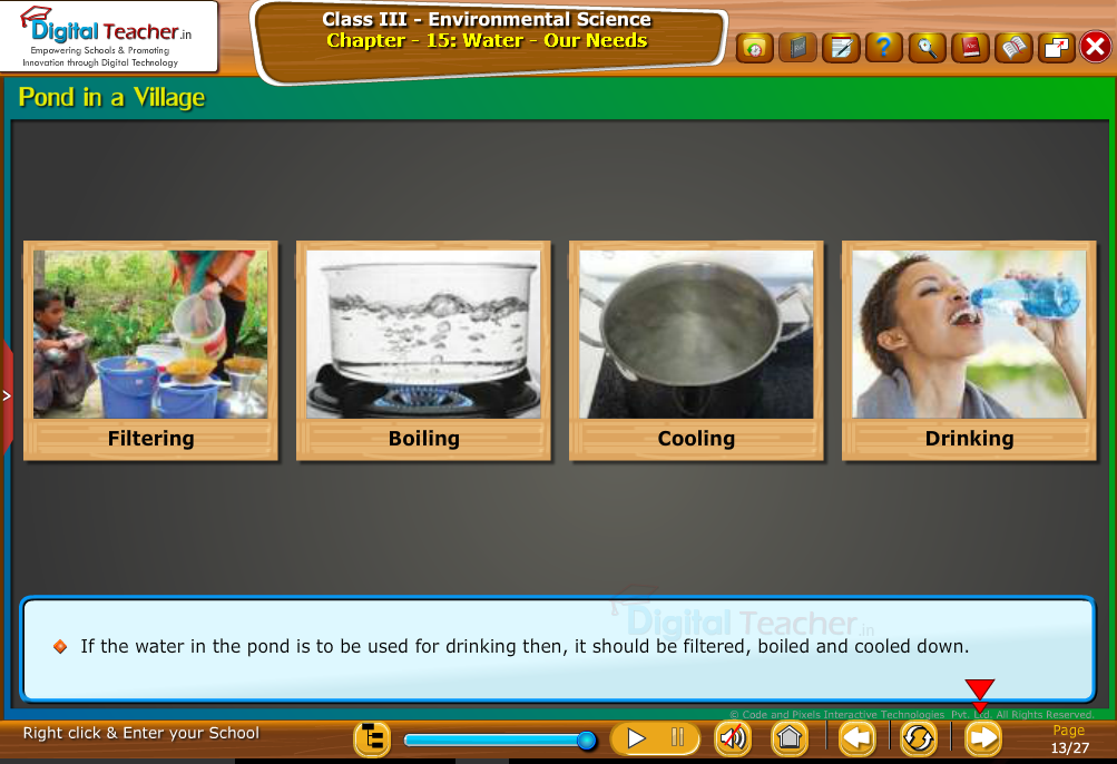 Pond in a village