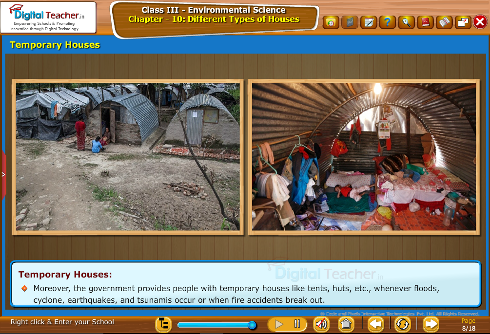 Temporary houses