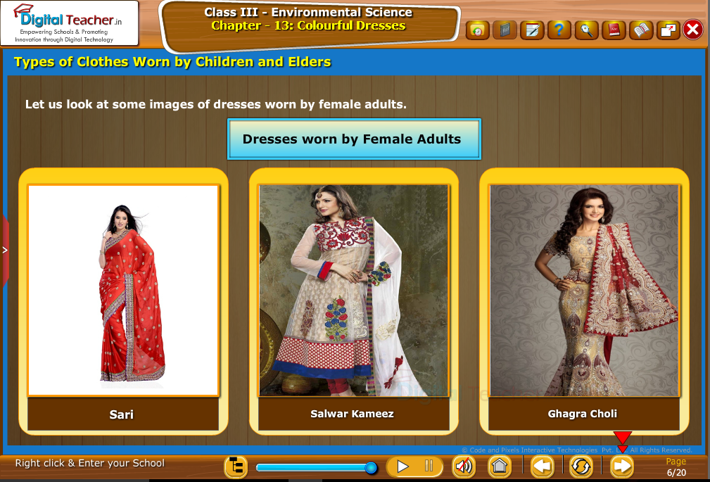 Types of  clothes worn by children and elders