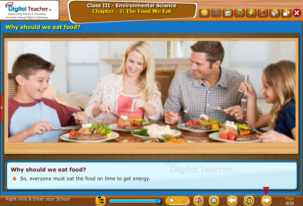 Why should we eat food