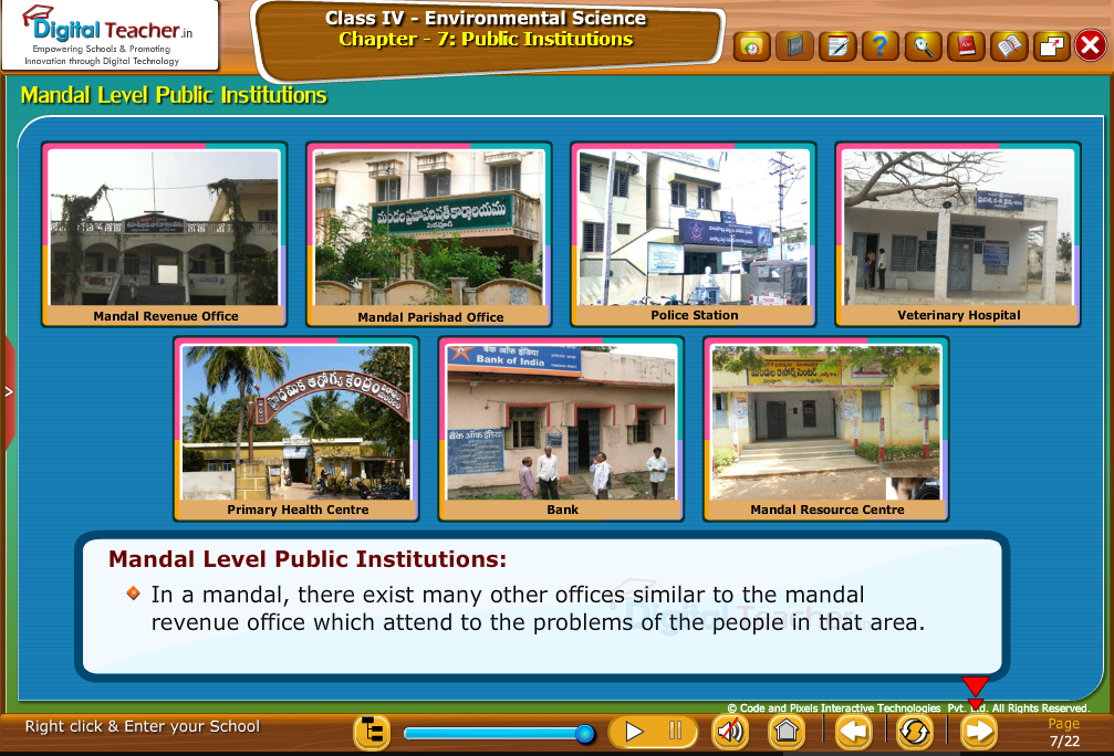 mandal level public institutions
