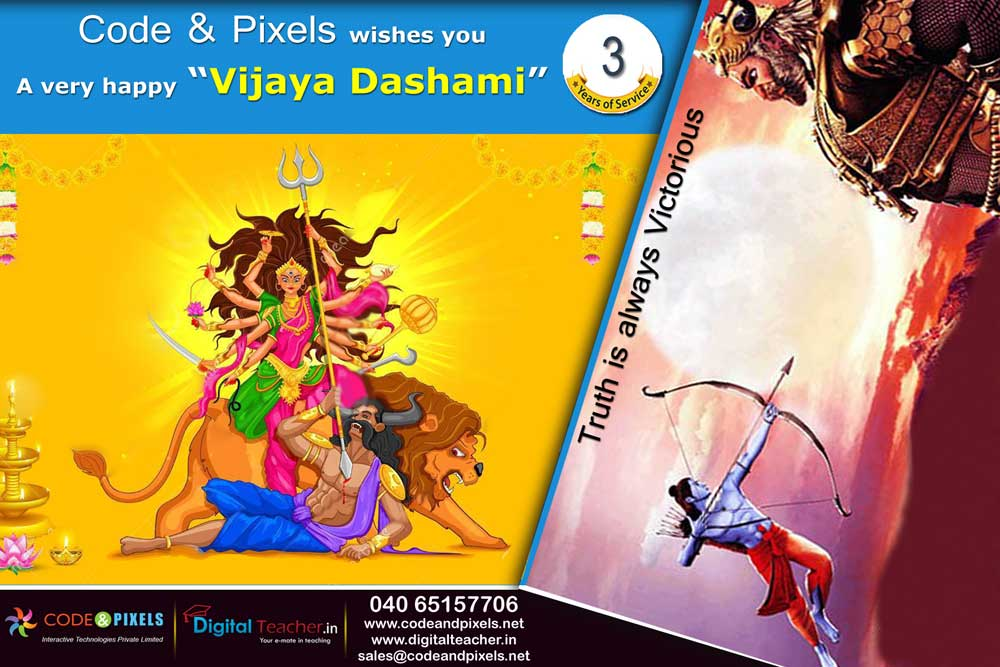 Celebrate the occasion of Vijaya Dashami - Code and Pixels