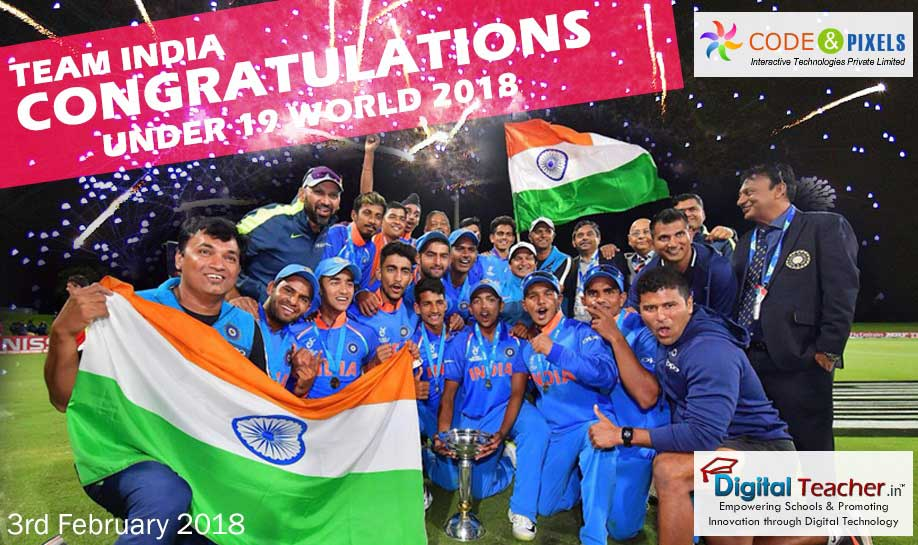 Congratulations Team INDIA for under 19 World Cup - 2018