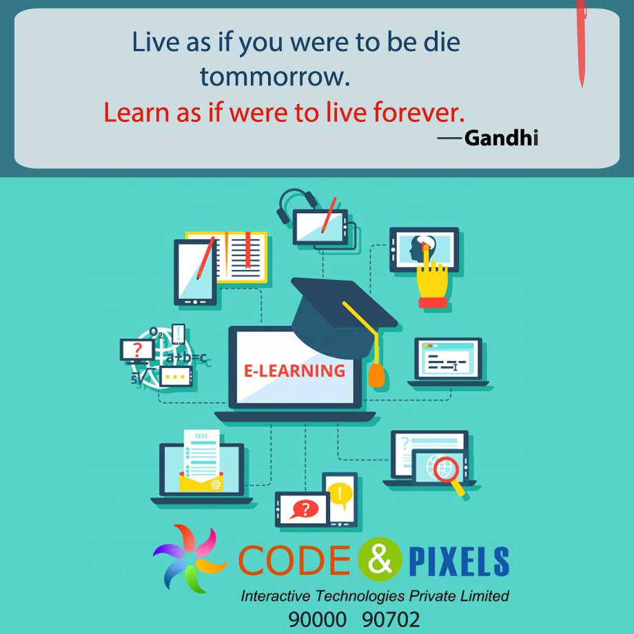 Live as if you were to be die trommorrow.Learn as if were to live forever | Code and Pixels