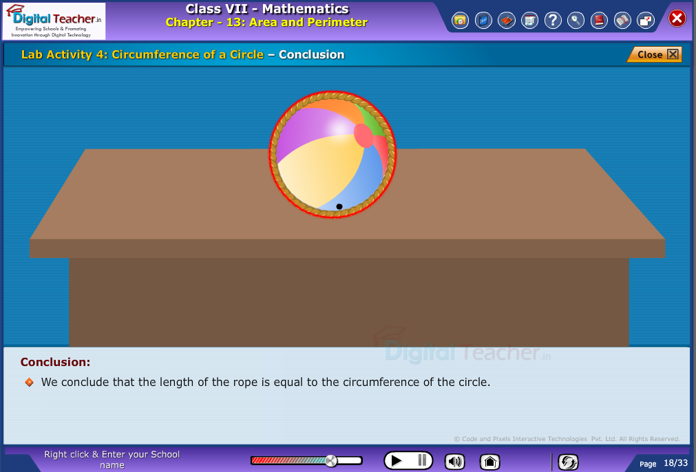 Circumference of a circle - conclusion