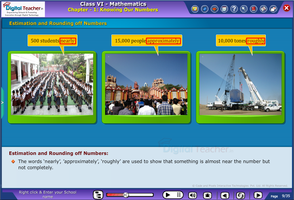Estimation and Rounding off numbers