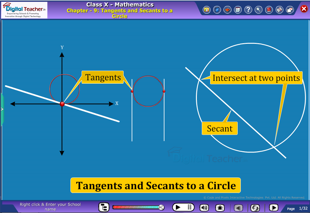 Tangents and Secants-to-a Circle