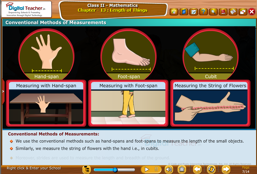 Class 1 - Mathematics : Conventional methods of Measurements