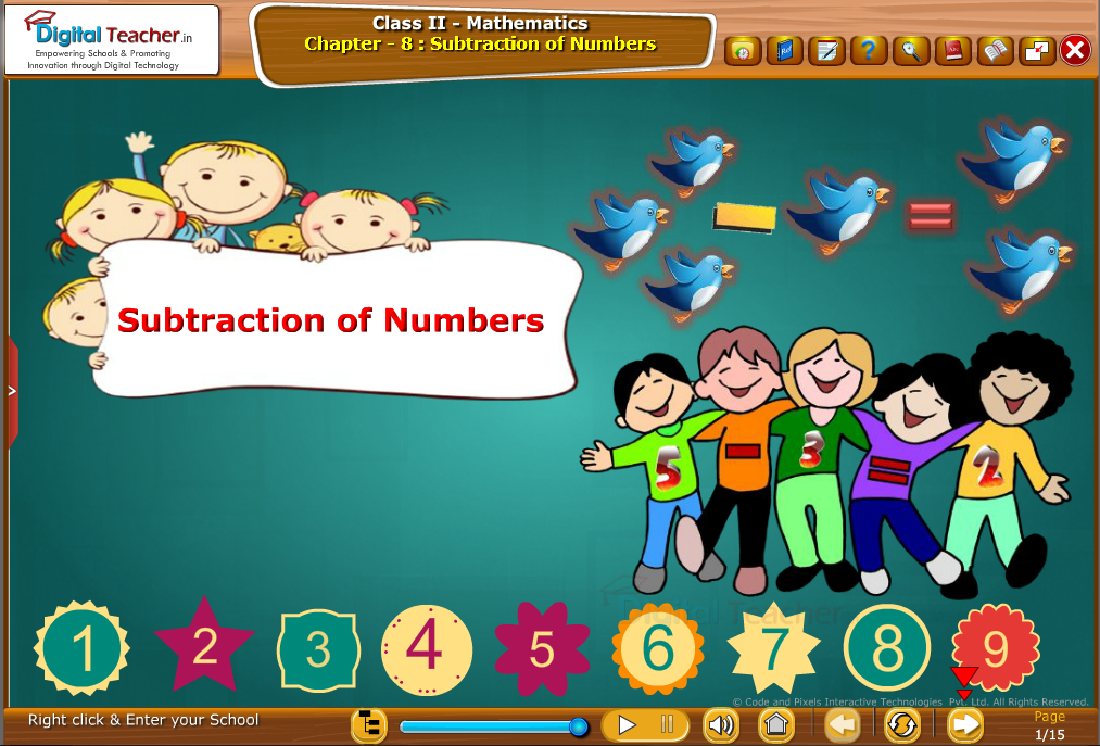 Class 2 Mathematics : Subtraction of Numbers with images