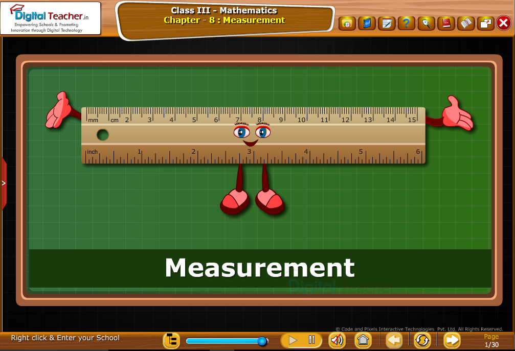 Class 3 Mathematics : Measurement with Scale