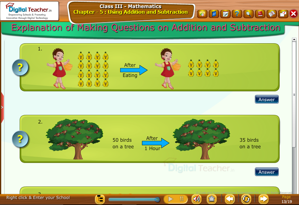 Class 3 Mathematics : Explanation on Making Questions on Addition and Subtraction