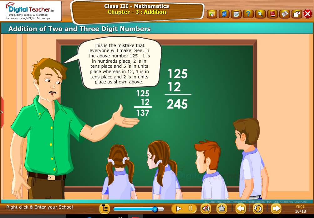Class 3 Mathematics : Addition of two & three Digit Numbers