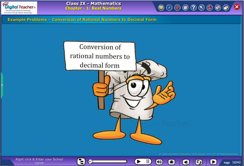 conversion of rational numbers-to-decimal form
