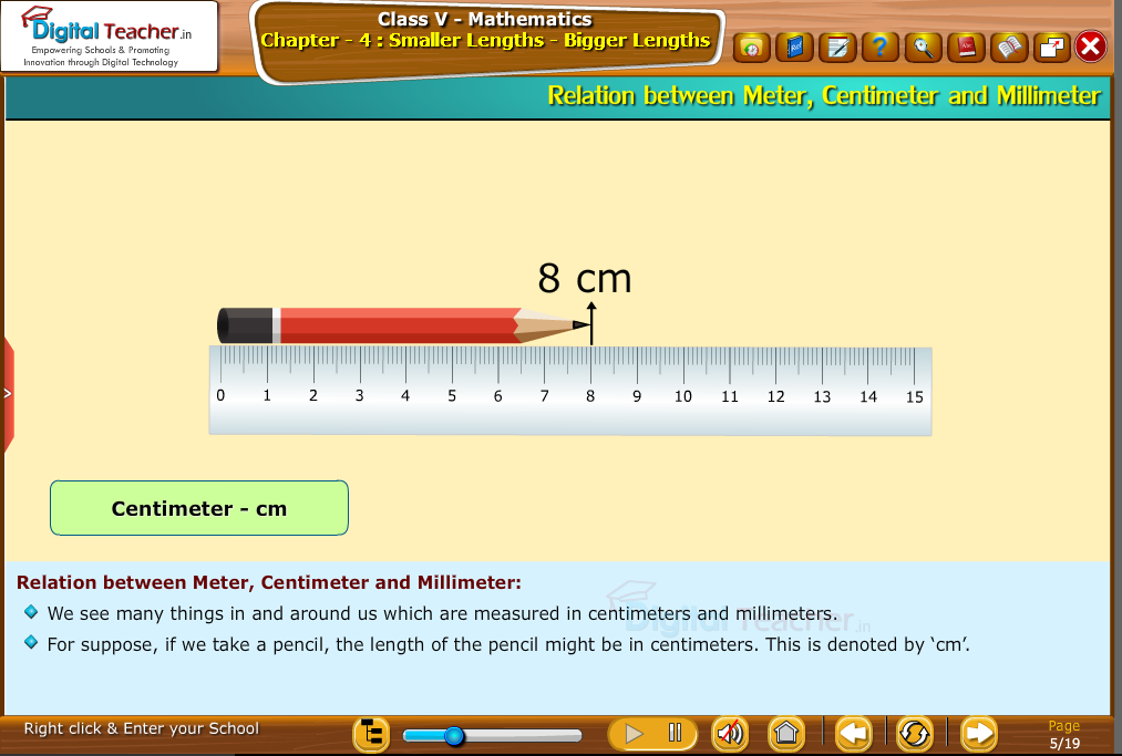 relation between  meter-centimeter-and millimeter