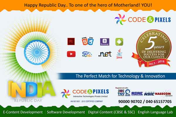 Happy Republic Day -Code and Pixels