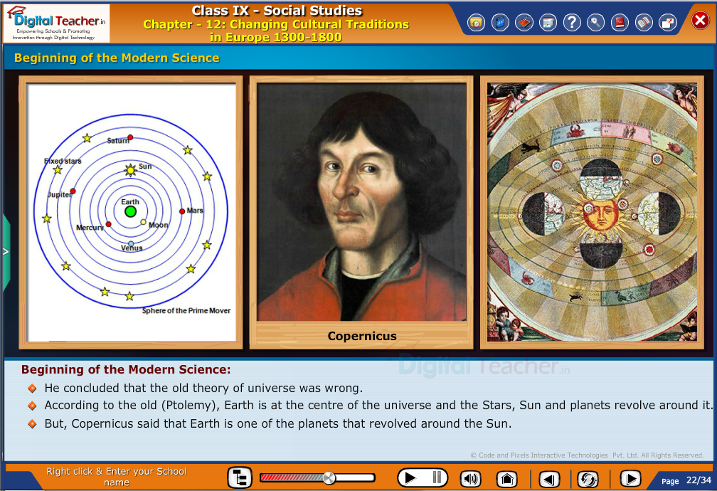Smart class - social studies on changing cultural traditions and beginning of the modern science