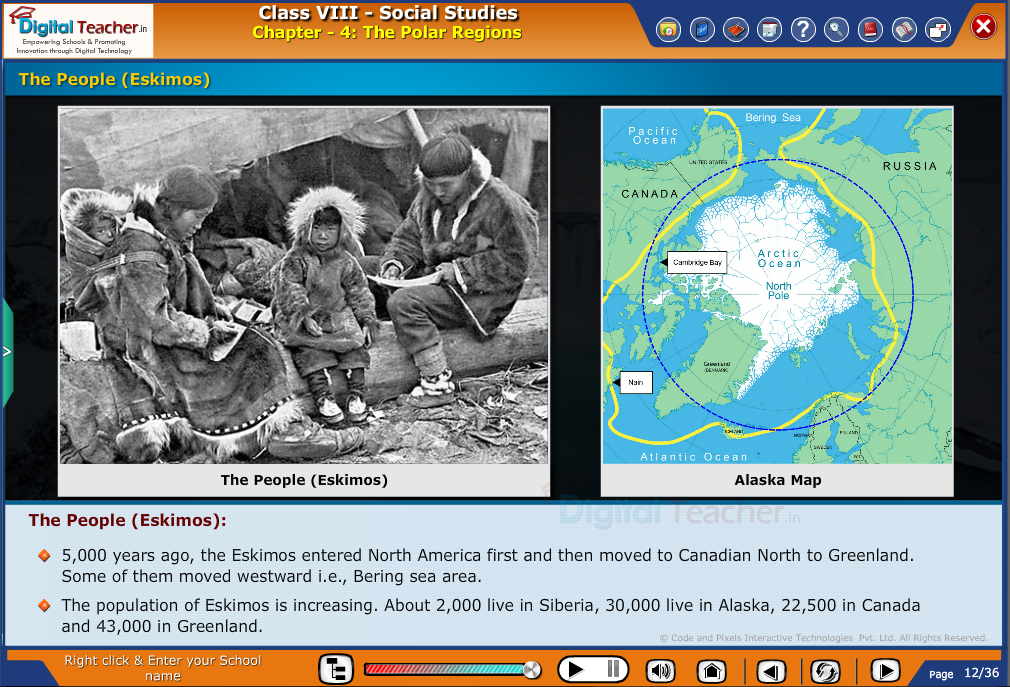 Smart class - social studies on defining the polar regions and the eskimos are people living in polar regions