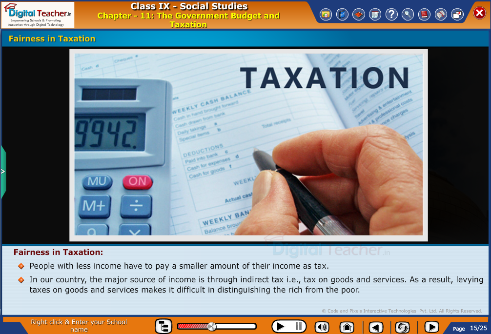 The government budget and fairness in taxation - smart class social studies