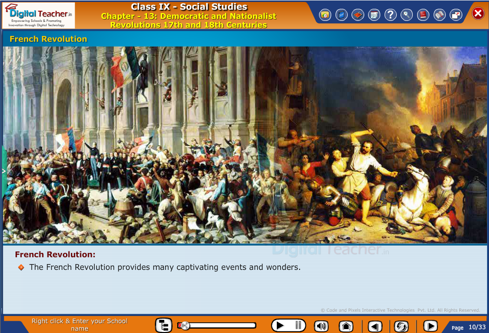 Smart class - social studies on explaining french revolution and effects