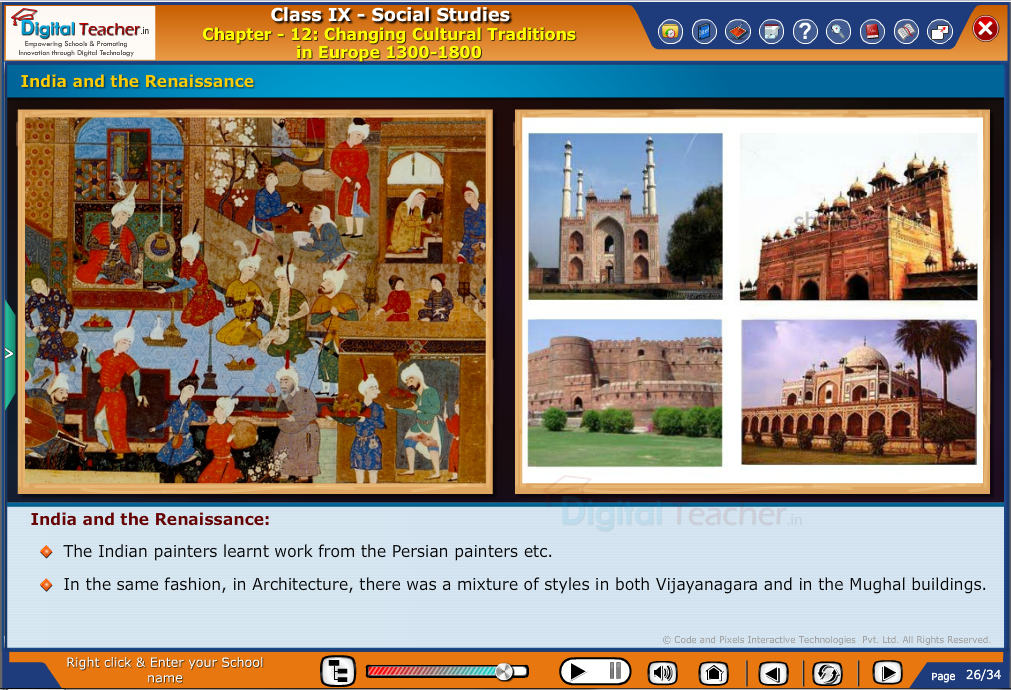 Smart class - social studies on India and the Renaissance from various cultural traditions