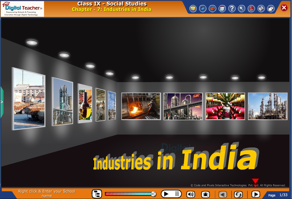 Smart class - social studies explaining the evolution of Industries in India