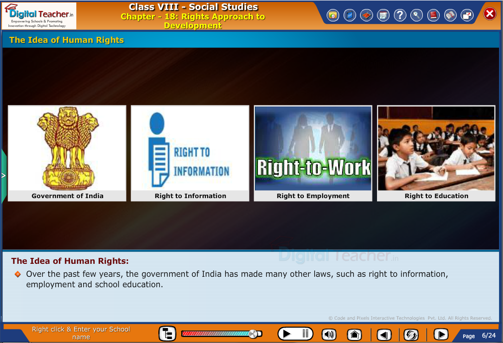 Smart class - social studies on different laws and idea of human rights