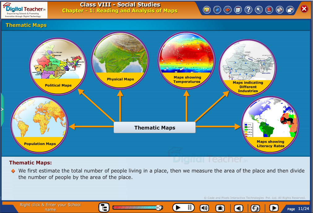 Smart class - social studies defining the thematic map
