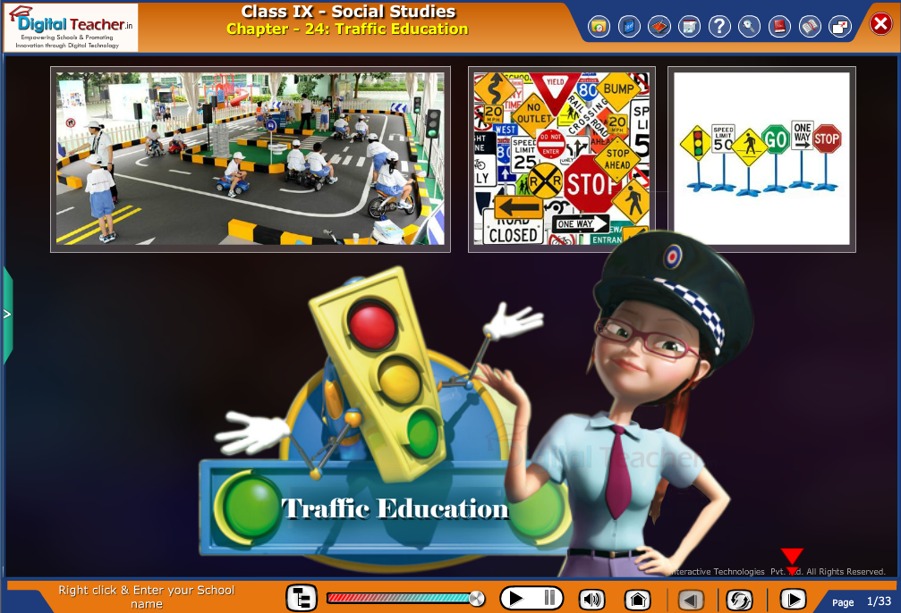 Smart class - social studies on Traffic Education
