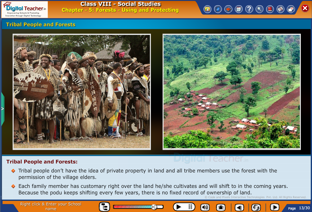 Smart class - social studies on tribal people and forests