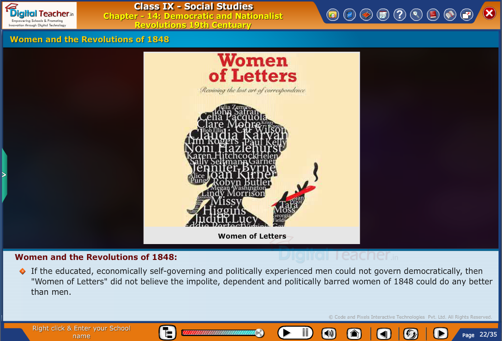 Smart class - social studies on revolution of Women in 1848 for their rights