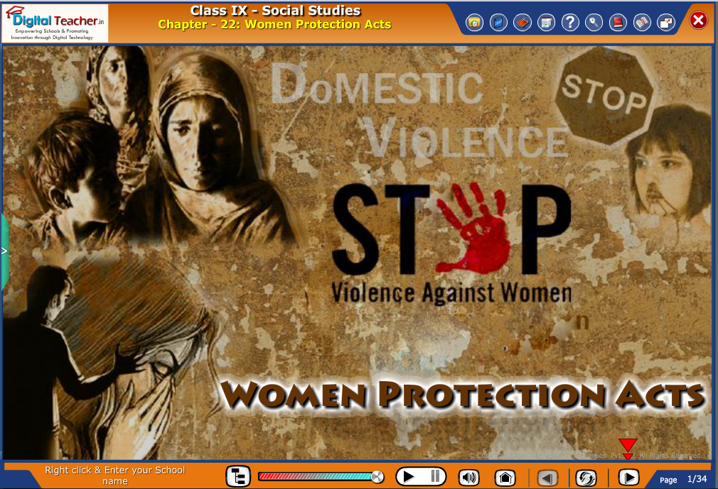 Smart class - social studies on various women protection acts