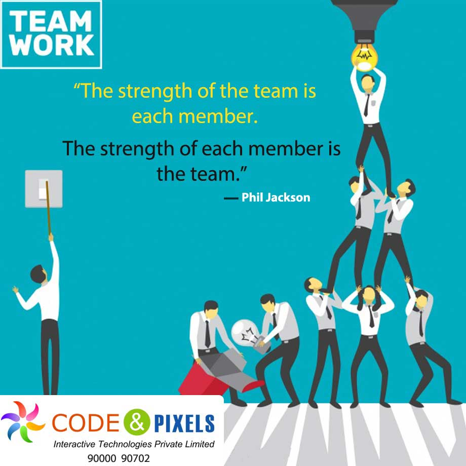 The Strength of the Team is each member - Digital Teacher