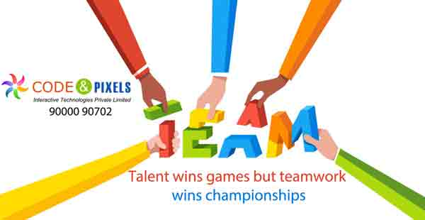 Talent wins games but teamwork wins chompionships - Code and Pixels