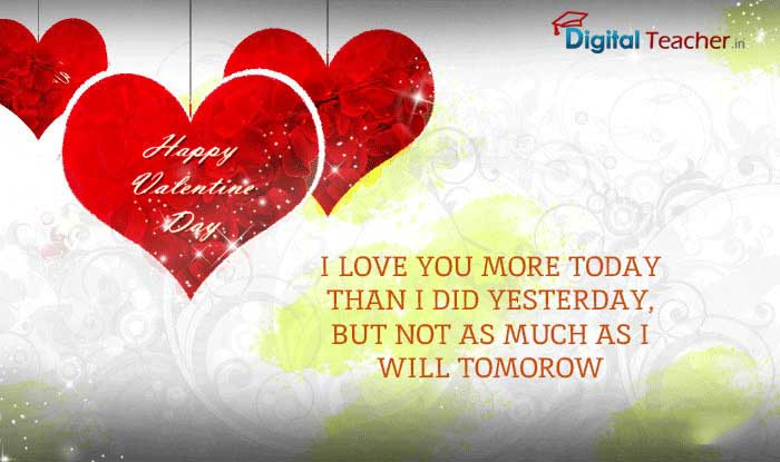 I Love you more today than I did yeasterday - Digital Teacher